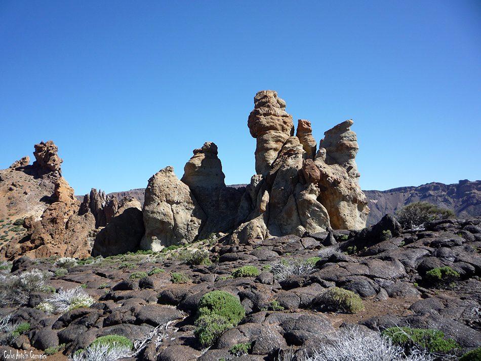 Lavas cordadas Pahoe hoe - Parque Nacional del Teide - Tenerife - roques de garcía