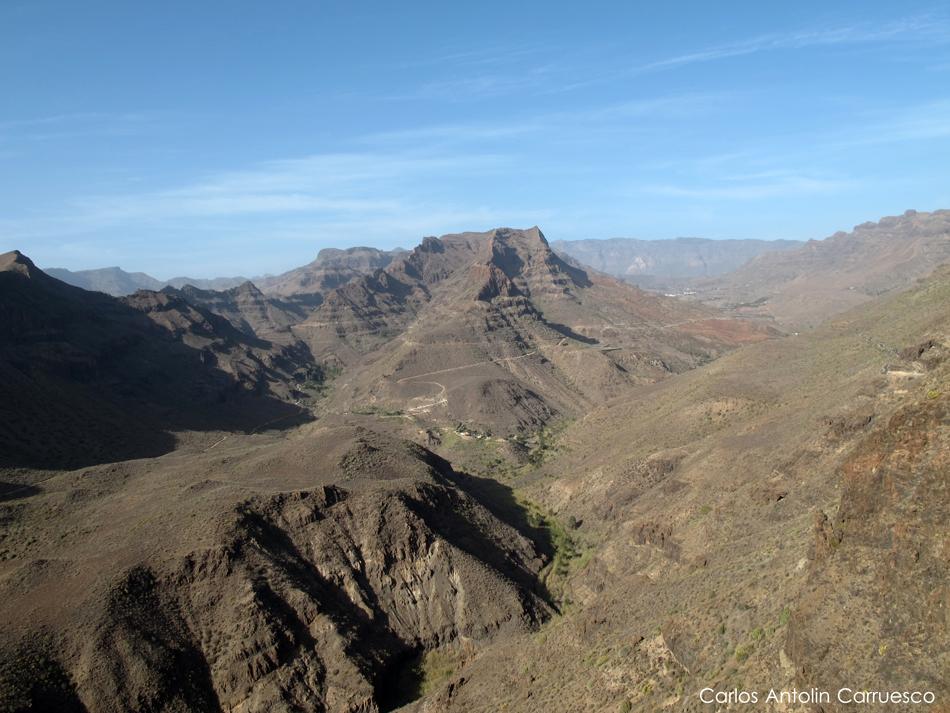 Mirador Degollada de las Yeguas - barranco de Fataga