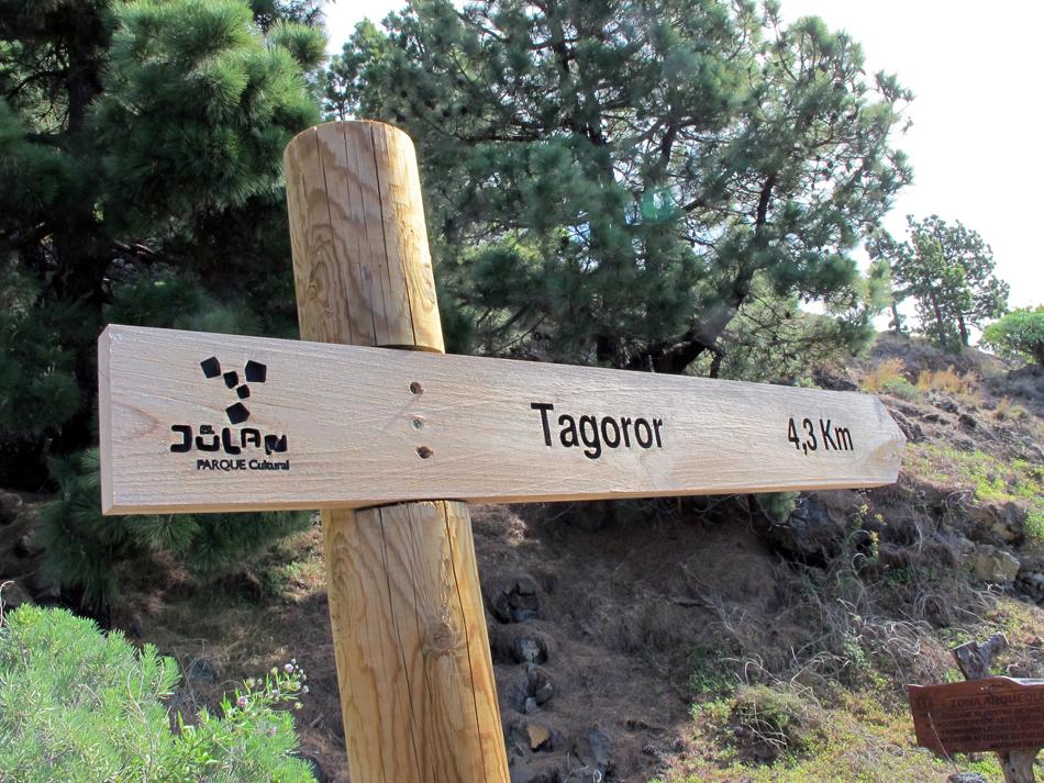 Inicio de la ruta hacia el Tagoror