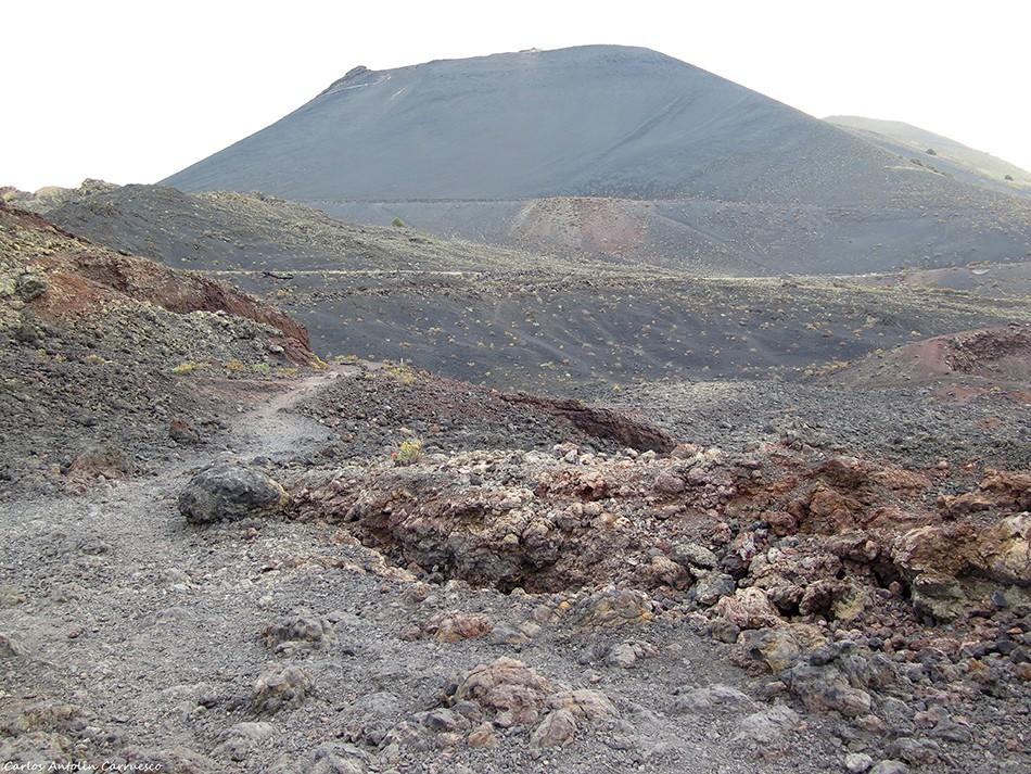 GR131 - Ruta del Bastón - Teneguía - La Palma - volcan san antonio
