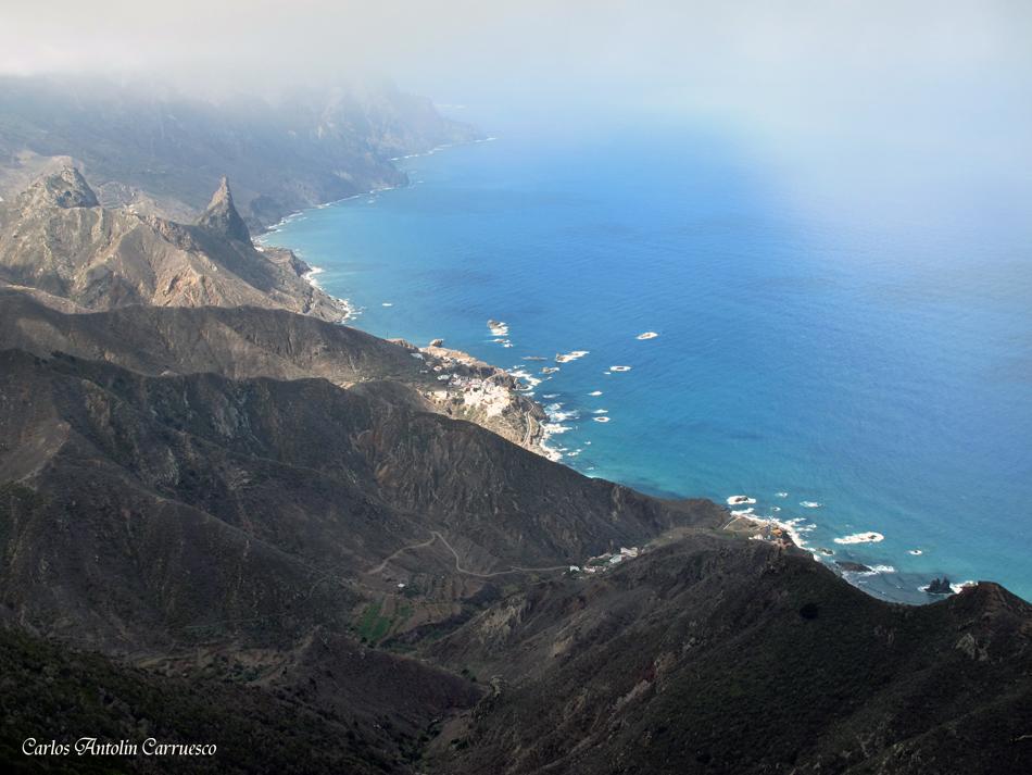 Mirador Cabeza de Tejo - Anaga - Tenerife - Benijo, Almáciga y el Roque de Las Ánimas
