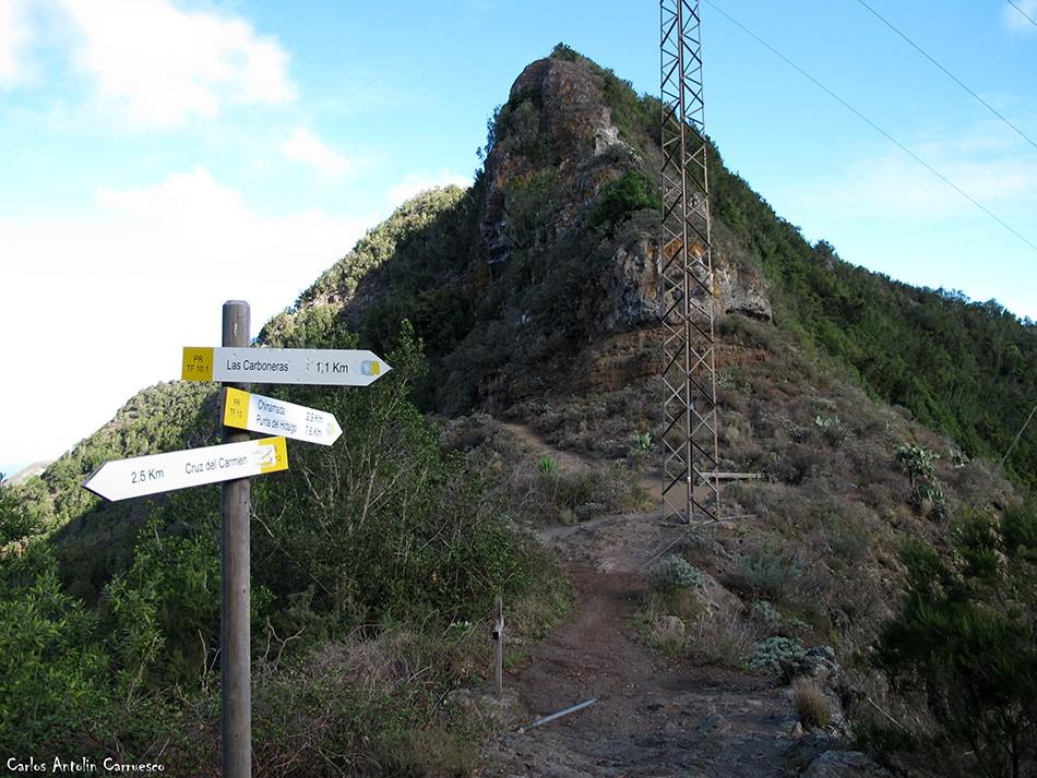 Cruce de senderos - Las Escaleras - Anaga