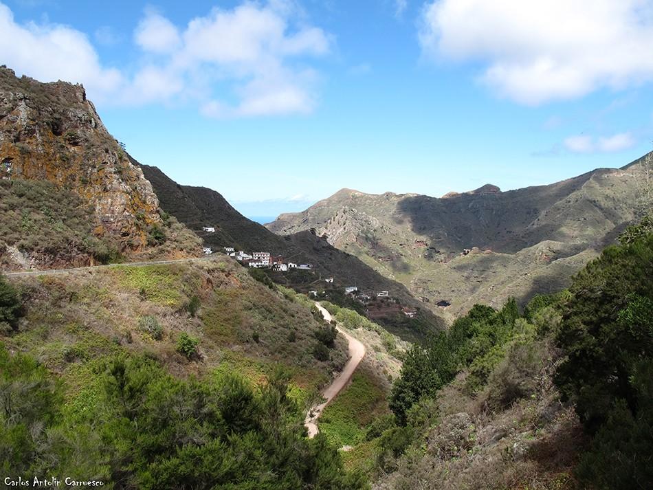 Los Batanes - Anaga - Tenerife - pista de los dragos