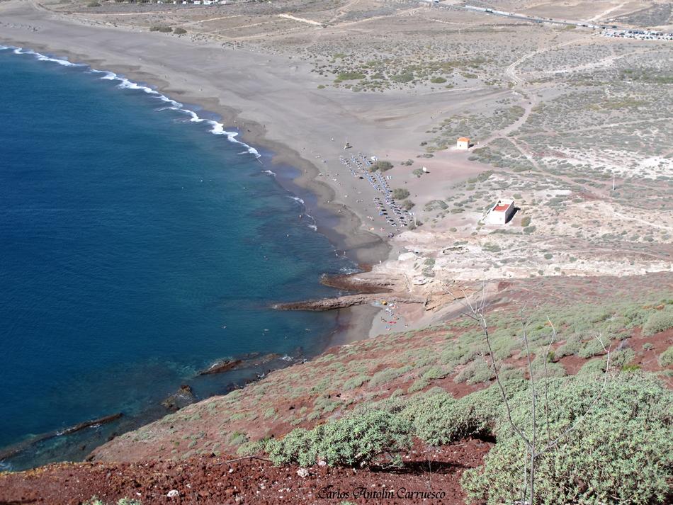 """Mirador del volcán """"Montaña Roja"""" - playa de """"La Tejita"""" - Tenerife"""