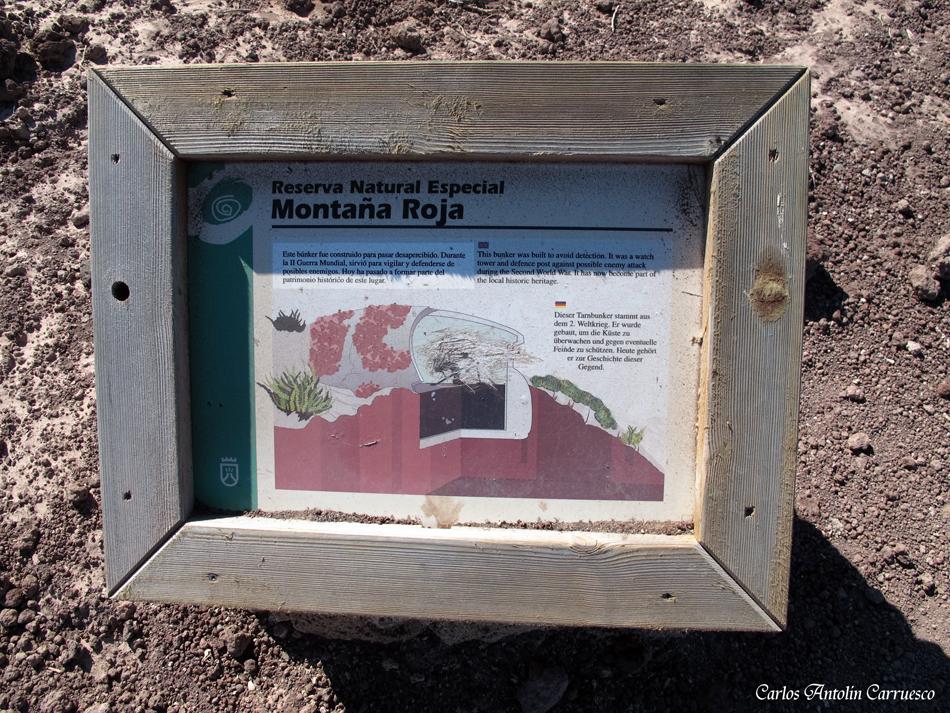 """Reserva Natural Especial """"Montaña Roja"""" - El Médano - Tenerife"""