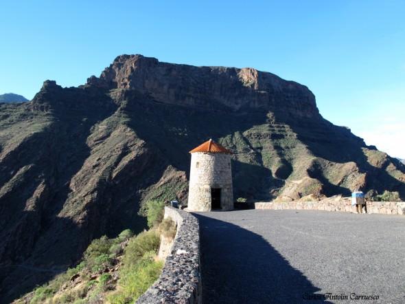 carretera GC210 - dirección a Tamadaba por La Aldea - Gran Canaria