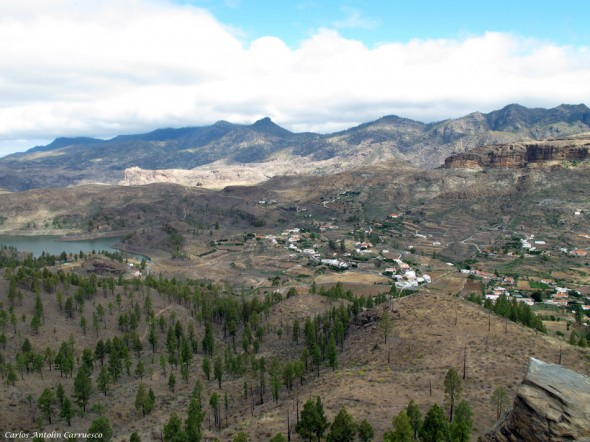 Parque Natural de Pilancones - Gran Canaria - cercados de araña - embalse de chira