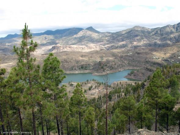 Parque Natural de Pilancones - Gran Canaria - embalse de chira - cercados de araña