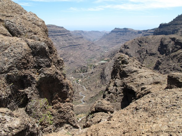 Barranco de Arguineguín - carretera GC505 - Gran Canaria