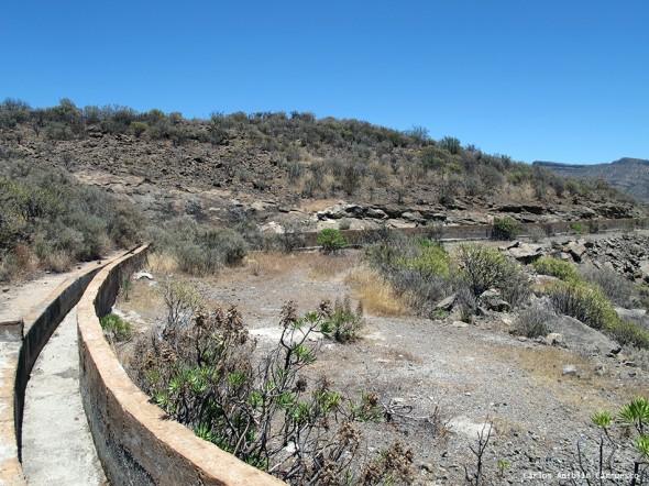 Canales de los embalses Salto del Perro, Soria y Cueva de Las Niñas - Gran Canaria