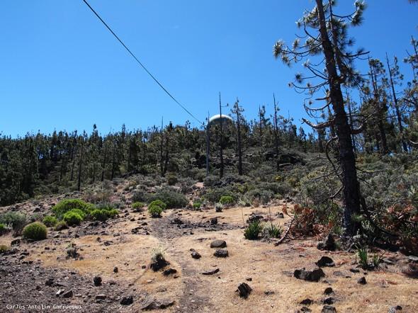 sendero vertical hasta el Mirador Pico de Las Nieves - Gran Canaria