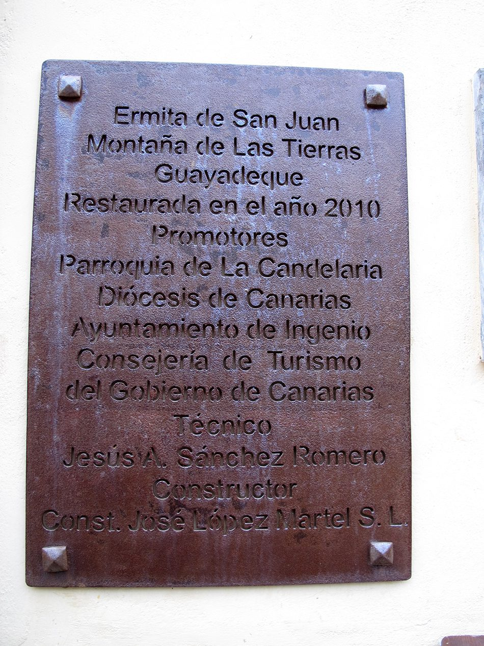 Ermita de San Juan - Montaña de Las Tierras - Guayadeque - Gran Canaria