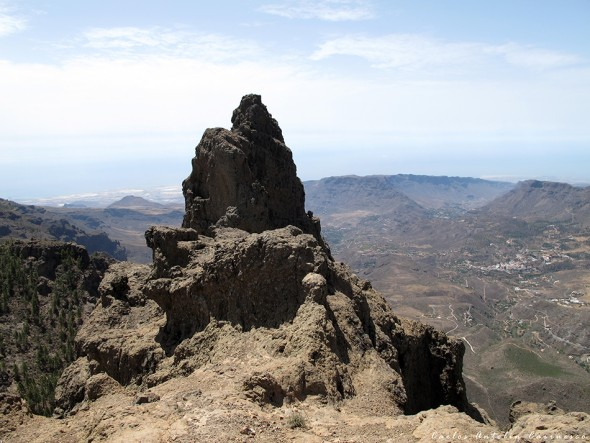 Mirador Pico de Las Nieves - Gran Canaria - Morrón de la Agujerada a 1.956 metros de altitud