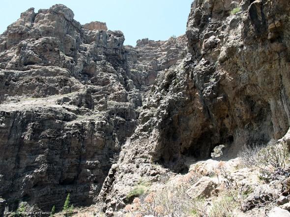 paso del agujero - Cañadón del Jierro - Gran Canaria
