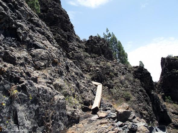 el paso de la tabla - Cañadón del Jierro - Gran Canaria