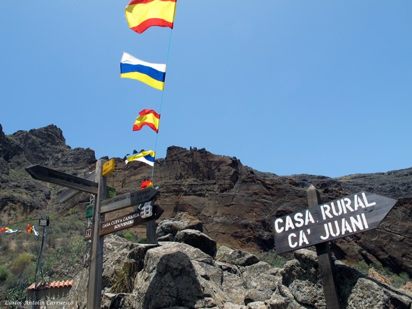 Barranco de Guayadeque - Montaña de las Tierras - Gran Canaria - casas cueva
