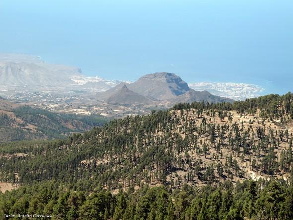 Panorámica del Sur de Tenerife desde las Cumbres de Ucanca