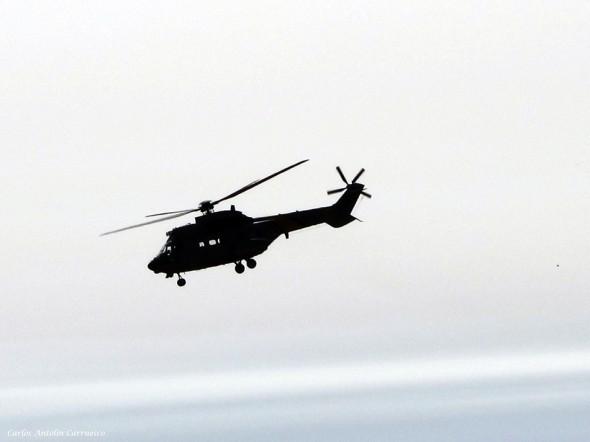 Barranco de Guayadeque - Gran Canaria - helicoptero - super puma