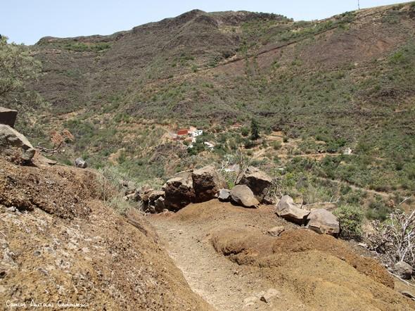 sendero de Paso Bermejo - dirección a Lereta - Gran Canaria - lereta