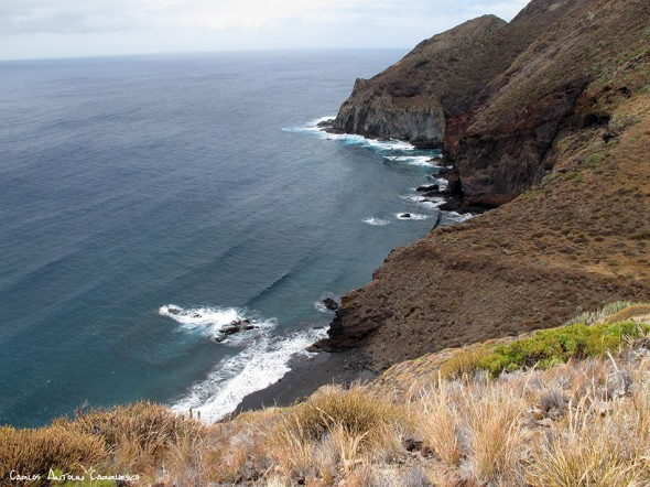 sendero a la Playa de Antequera - Anaga - Ensenada de Zapata<br />