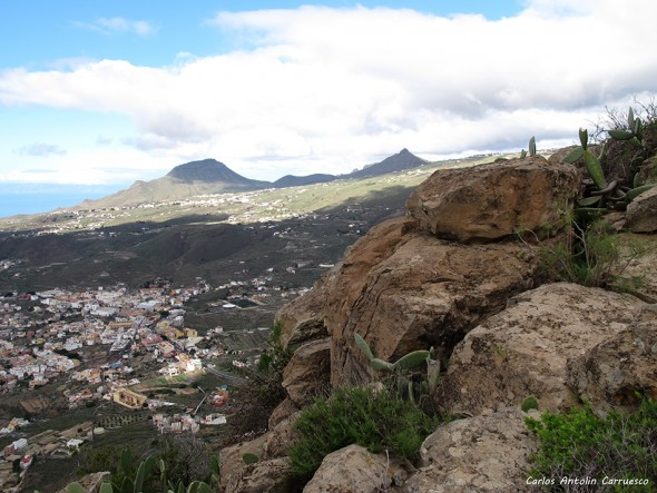 Valle San Lorenzo - Monumento Natural de Jama - Tenerife - roque del conde - imoque