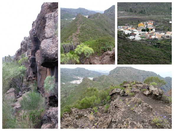 Sendero que une los senderos de Risco Blanco con Barranco Seco