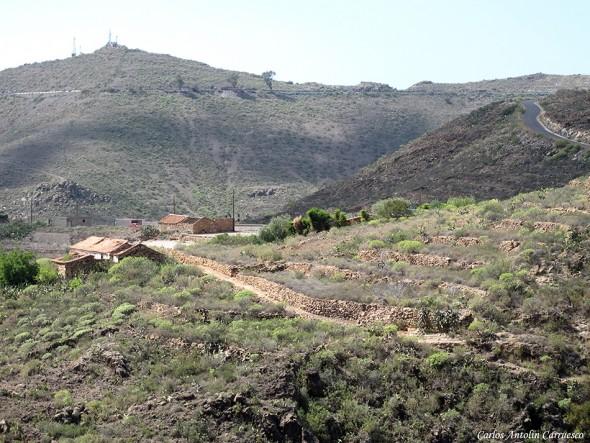 Camino Real del Sur - Barranco de El Drago - Tenerife - caserío de la hoya