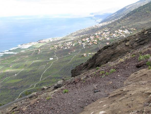 Viñedos de Fuencaliente desde la cima del San Antonio - La Palma