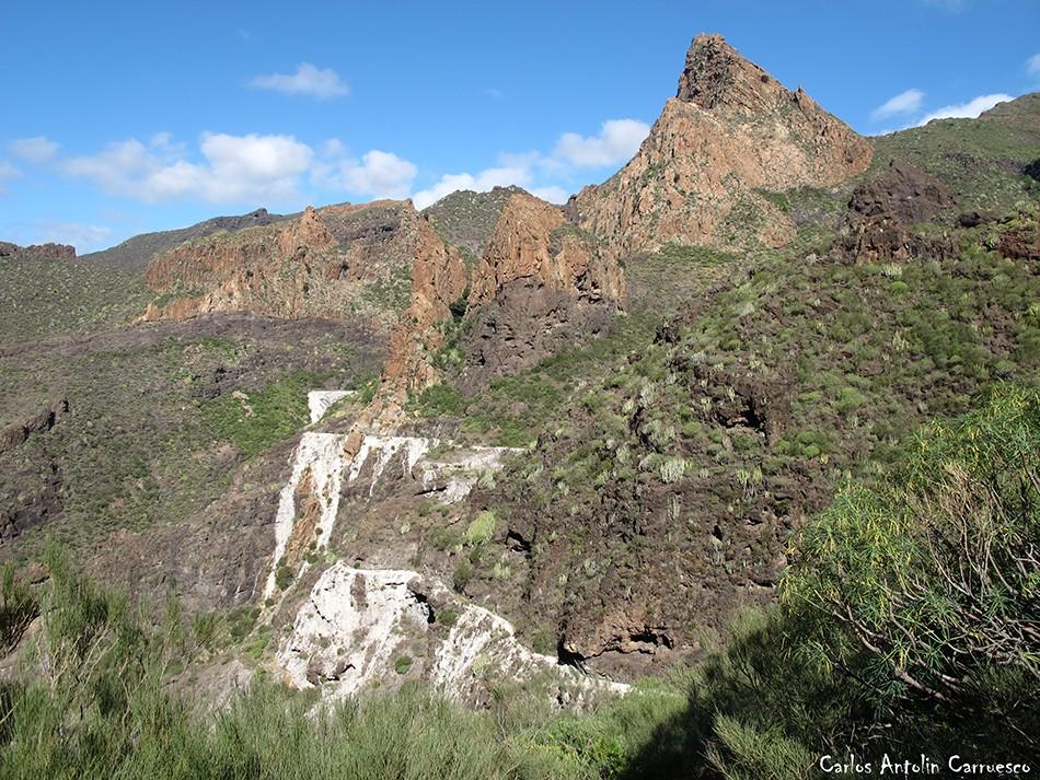 Atarjea del sauce - Barranco Seco - Teno - Tenerife - risco blanco