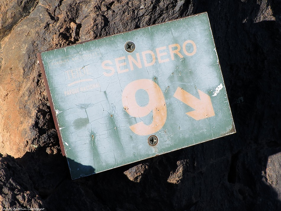 sendero Nº 9 - Parque Nacional del Teide - Tenerife