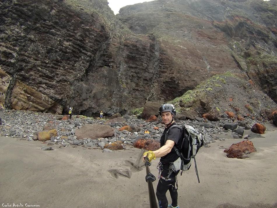 Último rápel del barranco de La Angostura - Playa de Pachila