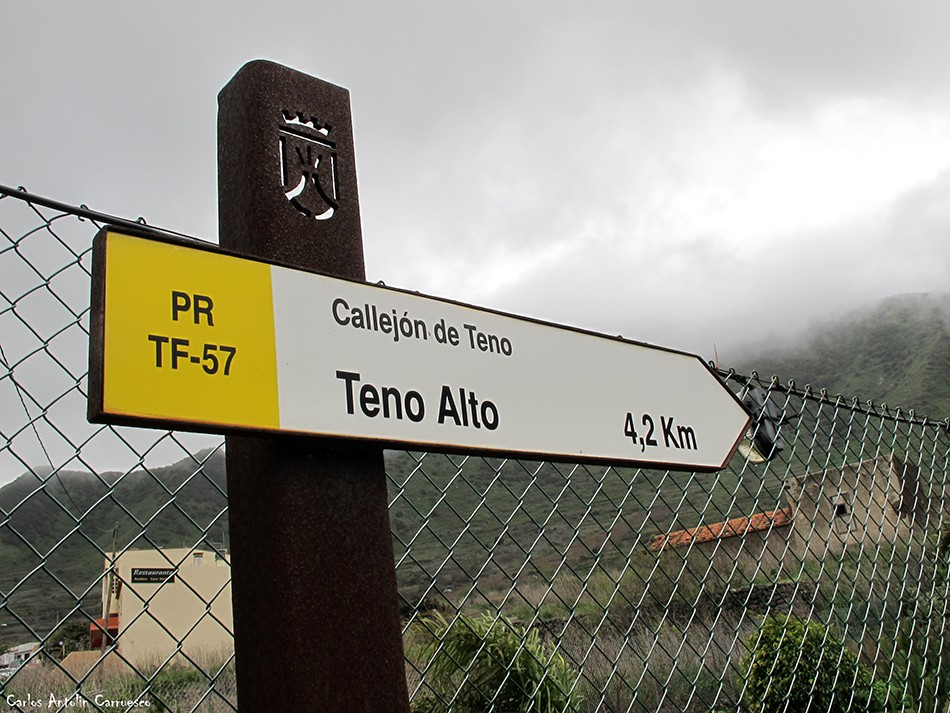 El Palmar - Teno - Tenerife - callejón de teno - pr57