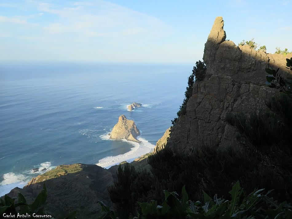Parque Rural de Anaga - Tenerife - Roque de Tierra - Roque de Fuera - roque de dentro