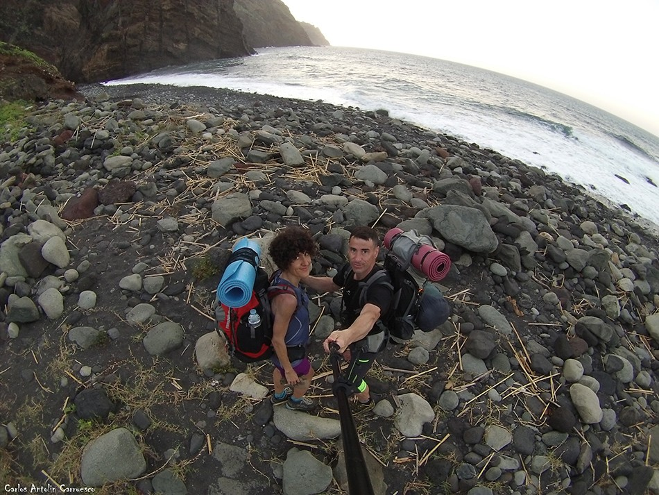 Nuestra meta: Playa de Tamadiste - Barranco de Afur<br/>Parque Rural de Anaga - Tenerife