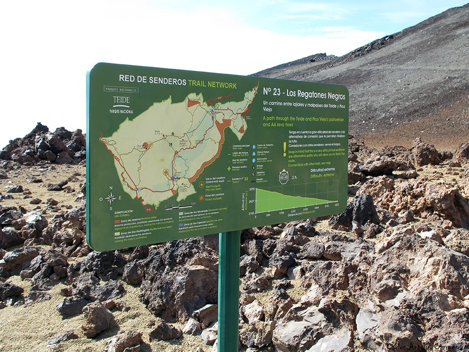 Los Regatones Negros - sendero Nº23 - P.N. del Teide - Tenerife