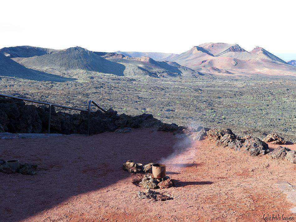 Parque Nacional de Timanfaya - Lanzarote - anomalías geotérmicas