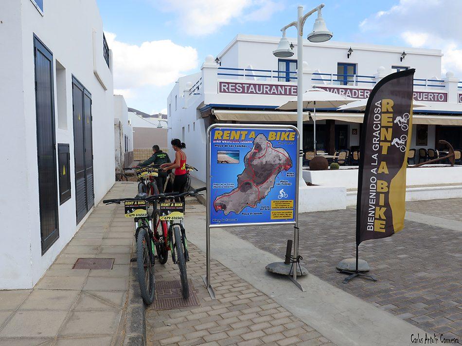 Isla de La Graciosa - Caleta de Sebo - Lanzarote - rent bike graciosa island