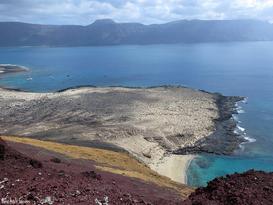 Isla de La Graciosa - Montaña Amarilla - Lanzarote - famara - playa de la cocina