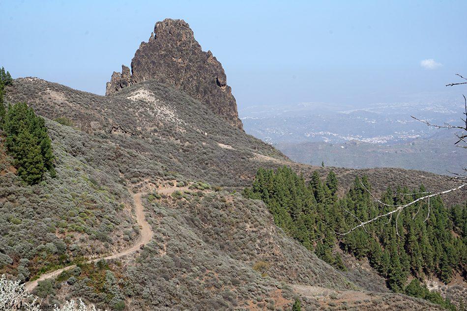 Caldera de Los Marteles - Guayadeque - Gran Canaria - roque grande