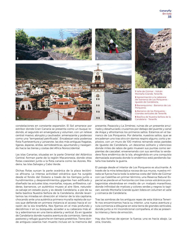Revista de a bordo Volar y Más - Canaryfly - Los Porqueros - Igueste de Candelaria