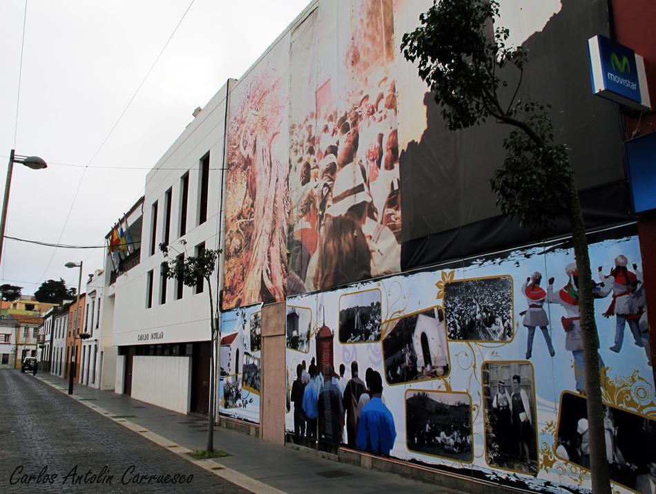 Cabildo de El Hierro - Mural de la Bajada de la Virgen de Los Reyes - Valverde