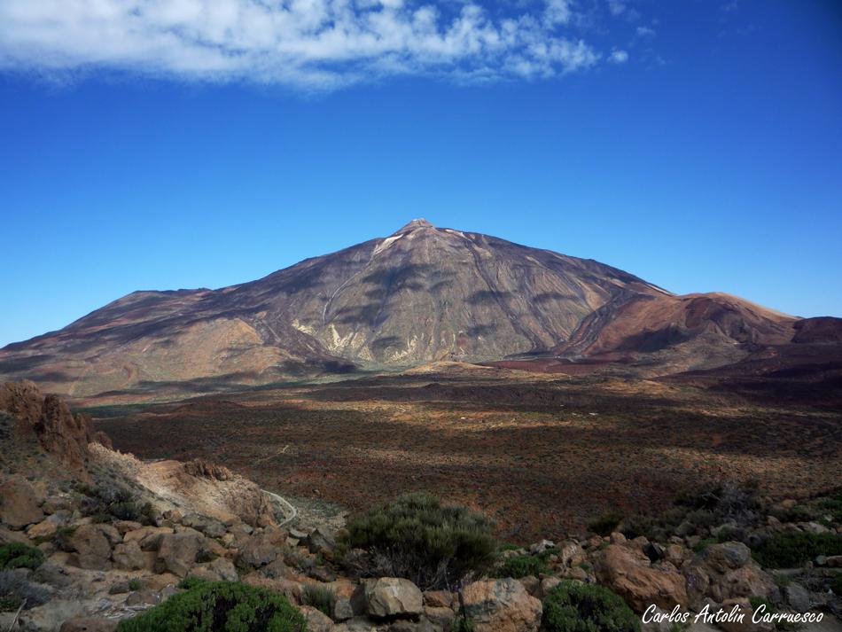 Teide desde la cresta del anfiteatro de la Caldera del teide; ruta Nº8 - Tenerife