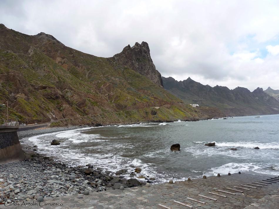 Playa de San Roque - Roque de las Bodegas - roque de las ánimas - anaga - tenerife