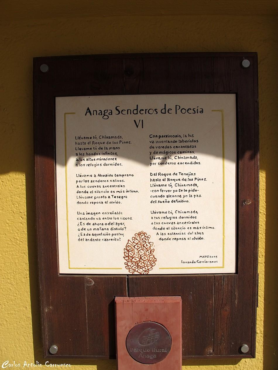 Chinamada - Anaga - Tenerife - senderos de poesía