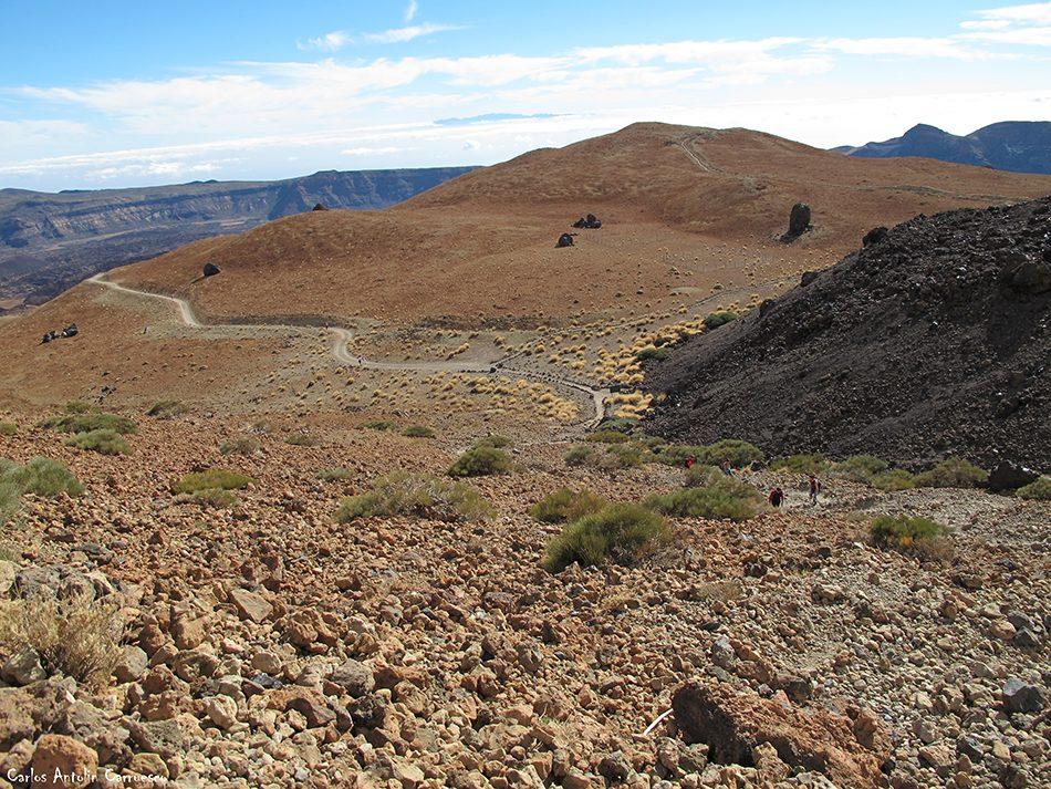 sendero Nº7 - P.N. del Teide - Tenerife - montaña blanca