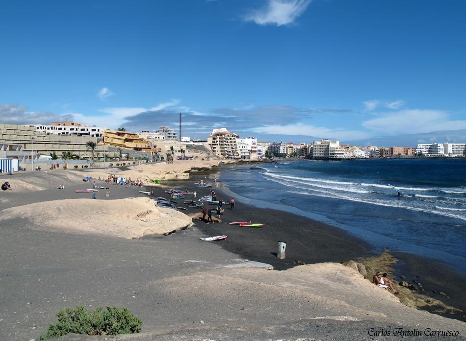 El Médano - playa de Leocadio Machado - Tenerife - playa Los Balos