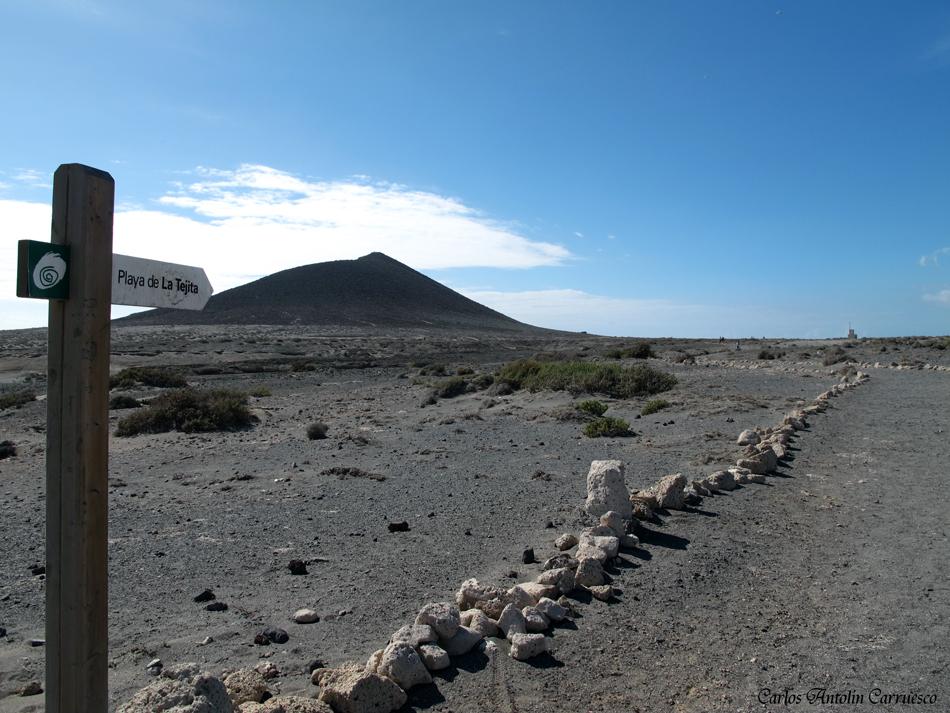 """dirección a la playa de """"La Tejita"""" - Montaña Roja - Tenerife"""