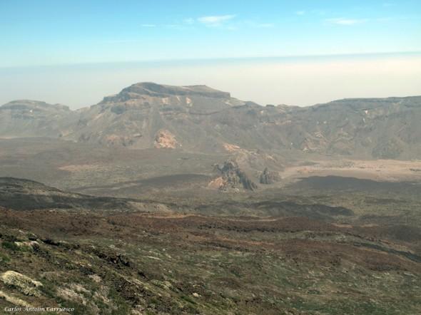 panorámica del Alto del Guajara y de los Roques Garcia - Tenerife