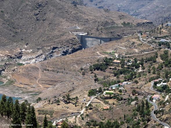 parte alta de la cascada - Gran Canaria<br/>mucha precaución