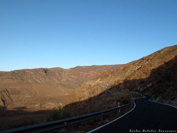 GC550 - en dirección a Taidía - Gran Canaria
